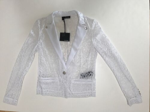 Elegante 295 Small The crepe bianco in pizzo Kooples con Sz giacca Nwt Rqfwg