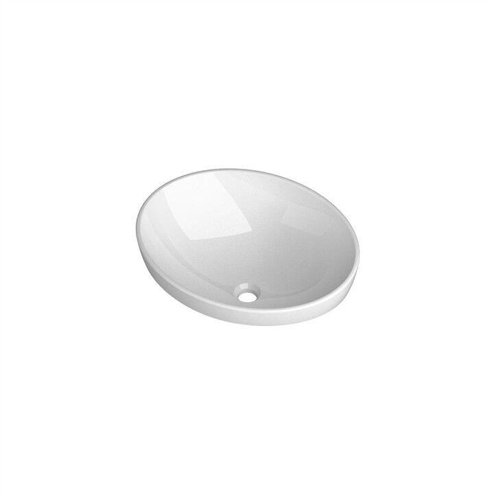 Lavandino Lavabo da Incasso Design moderno Sfera in ceramica blanc o nera 60cm