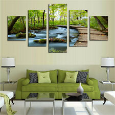 Waterfalls Modern Wall Decor Canvas Picture Art HD Print Painting Oil Painting K
