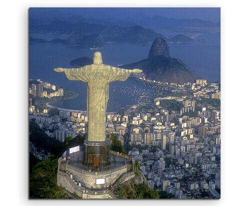 Rio de Janeiro Jesusstatue Wandbild auf Leinwand in verschiedenen Größen