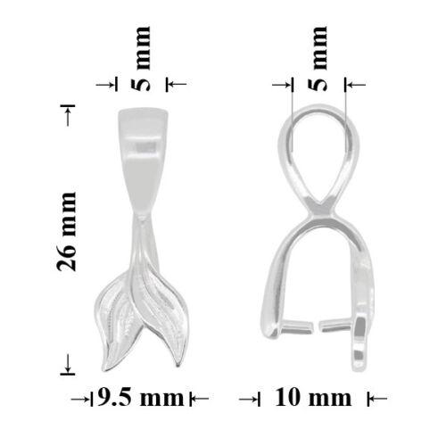Schmuckteile Sterling Silber Verbinder mit Schleife 26x9.5mm