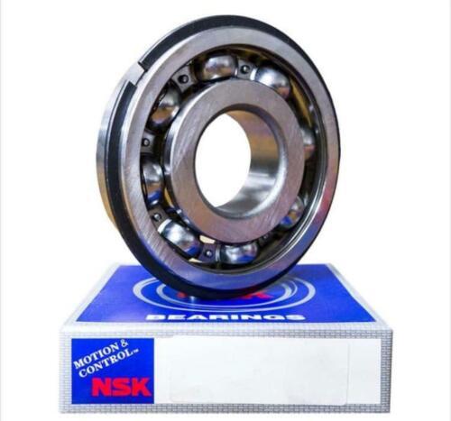 NSK 6206 NR BEARING METAL OPEN w// SNAP RING 6206 30x62x16 mm JAPAN