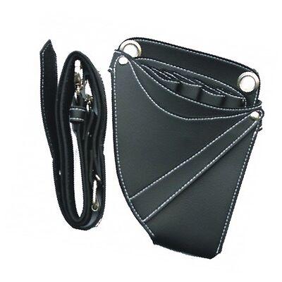 Rhein Hairtec Friseurtasche Werkzeugtasche aus schwarzem Kunstleder