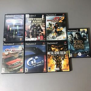 Playstation-2-PS2-Game-Lot-Of-7-Games-With-Manuals-Player-Condition