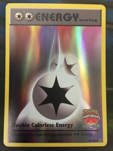 1x Double Colorless Energy - 90/108 - North America Championships Promo NM-Mint