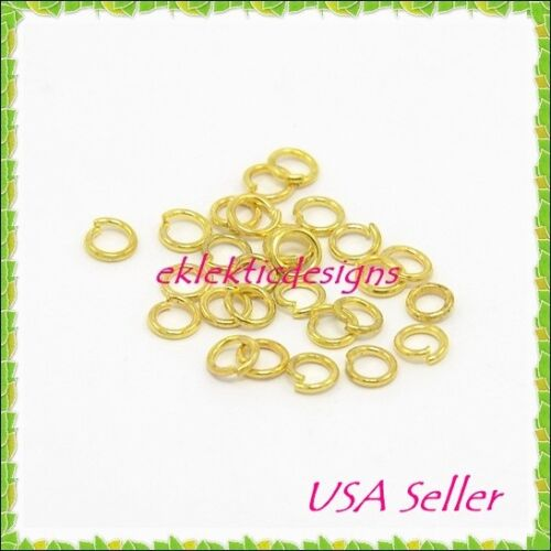 6mm 10pcs 18 Gauge Gold Plated Stainless Steel Jump Rings Jewelry Findings Open
