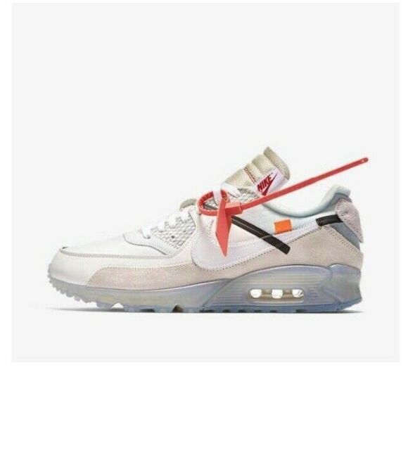 huge discount 7b7b5 68932 OFF WHITE x Nike Air Max 90 Sail White Virgil Abloh AA7293-100 Size 13
