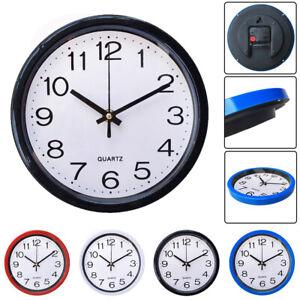 Retro-Round-Wall-Clock-Quartz-Silent-Sweep-Movement-Home-Bedroom-Kitchen-Clocks