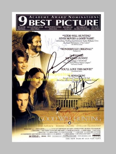 GOOD WILL HUNTING CAST x4 PP SIGNED POSTER 12X8