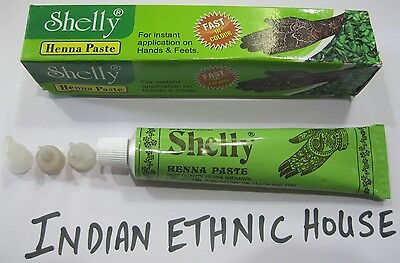 SHELLY HENNA PASTE - 30 GRAM TUBES- DARK COLOR OUTPUT- 100 % NATURAL - FREE SHIP