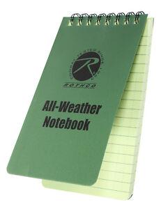 "Waterproof Notebook Police Duty All Weather Waterproof 3"" X 5"" Notebook 470"