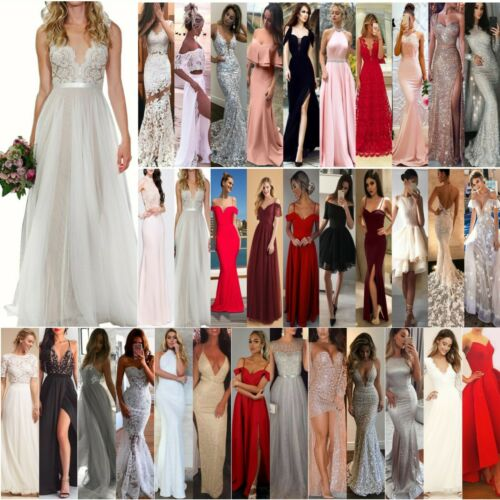 Womens Bridesmaid Wedding Formal Dresses Evening Party Ball Gown Prom Long Dress