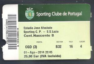 Ticket - Sporting C Portugal - SS Lazio - Open Season 2014/15