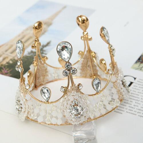 Details about  /Kids Crown Tiara Cake Topper Rhinestone Wedding Birthday Baby Shower Party Cake