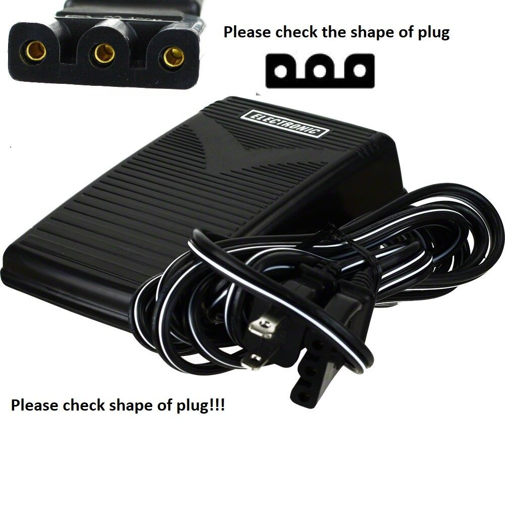 Foot Control Pedal Cord for Singer 1525 1725 1732 1748 2250 2259 2263 2273 2380