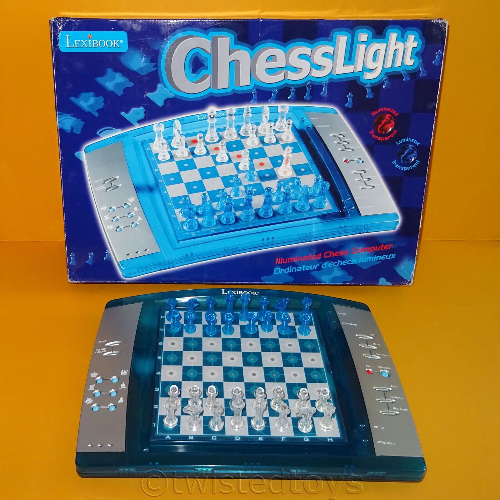 2009 LEXIBOOK LCG3000 CHESSLIGHT ILLUMINATED ELECTRONIC CHESS COMPUTER SET GAME