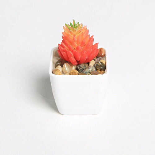 Artificial Plants with Pot Simulation Succulents Mini Bonsai Potted Fake Plant