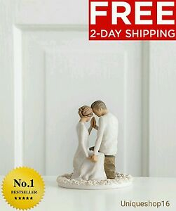 New Willow Tree Around You Figurine Wedding Cake Topper