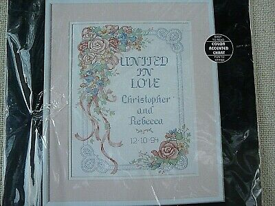 Dimensions Needlecrafts Counted Cross Stitch United in Love Wedding Record