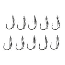 10Pc 1Group Fishing Special Bottom Big Fish Hook Pipe Barbed Barbed Fish Hook LE