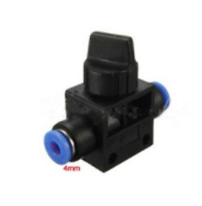 4-4 mm Pneumatic Valve Straight fitting Quick Push fit pipe air fittings 2 Way V