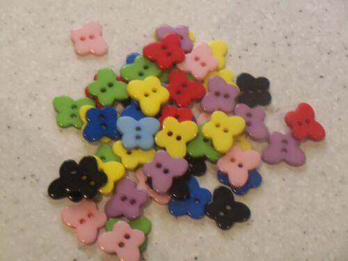 Nuevo a granel 50 Botones de Resina de mariposa preciosa pequeño mezclado 13X11MM Gratis P/&P!