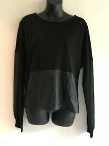 WITCHERY-BLACK-TUNIC-TOP-SIZE-M-AS-NEW