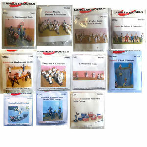 LANGLEY-FIGURES-OO-Gauge-30-DIFFERENT-options-painted-unpainted-NEW-Langley