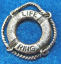 50Pcs. WHOLESALE Tibetan Silver LIFE SAVER RING Boat Ship Charms Pendants Q0838