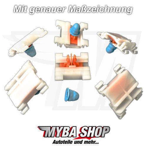 15x BARRE ornamentali parentesi CLIP DI FISSAGGIO VW PASSAT b4 con annodate VW 3a0853575 NUOVO