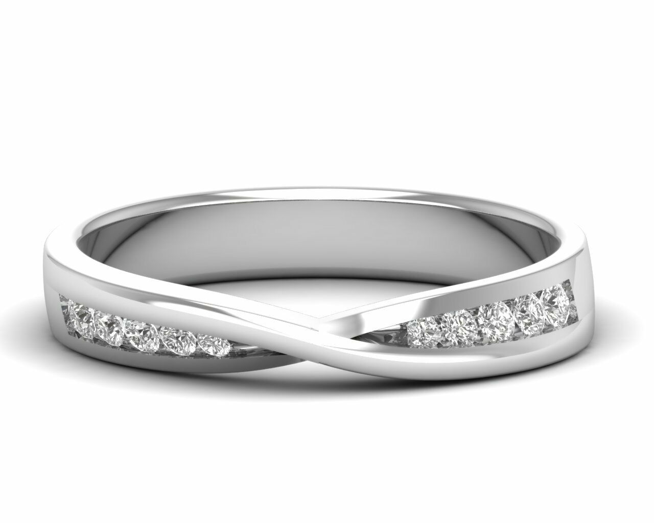 0.20ct Round Brilliant Cut Diamond Half Eternity Ring in 9K, 18K gold