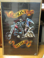 Vintage ghost rider Poster original bike garage  10681