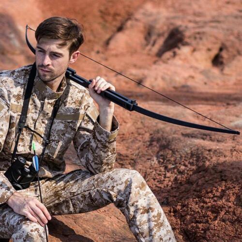 60lbs Folding Takedow Recurve Bow Aluminum Shooting Hunting Target Longbow Black