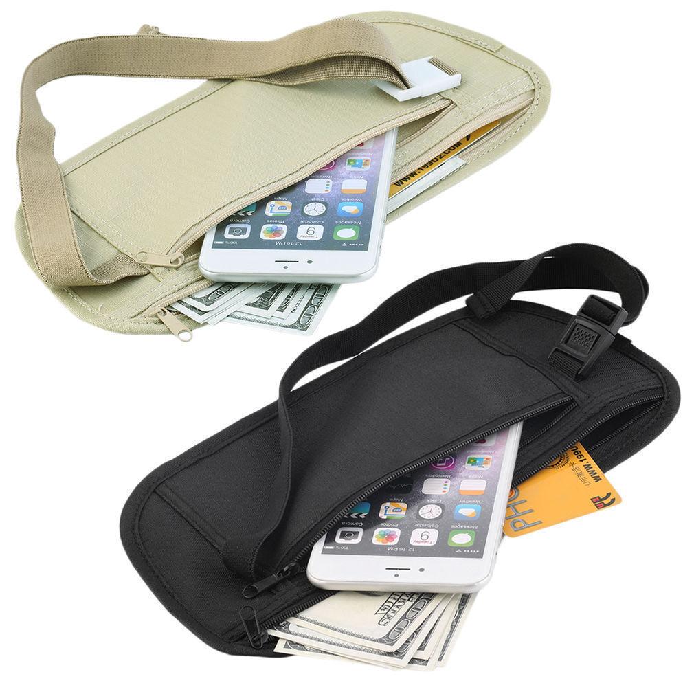 Travel Waist Hidden Pouch Security Money Waist Belt Sport Fanny Pack B... - s l1600