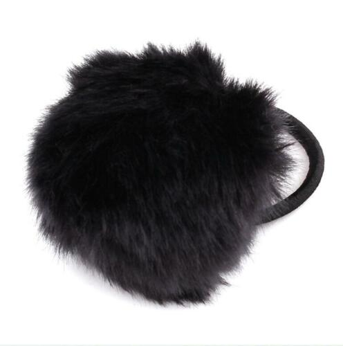 Hot Women Rabbit Fur Elastic Hair Band Ties Rope Ring Hairband Ponytail Holder