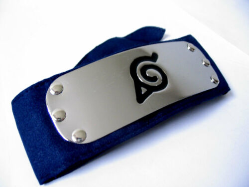 Naruto Kakashi Sasuke Leaf Village Cosplay Headband w//Metal Plate Protector Blue