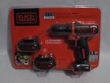 Black + Decker 12V Lithium Cordless Drill w/ 2 Batteries BDCD112-2