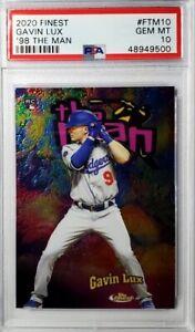 GAVIN LUX - 2020 Topps Finest The Man Rookie PSA 10 Gem Mint - Dodgers RC POP 2
