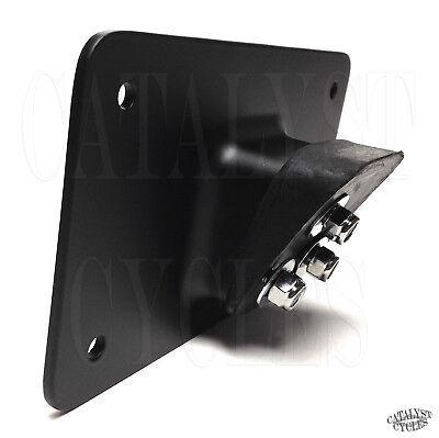 Custom Chrome 660751 Black Laydown License Plate