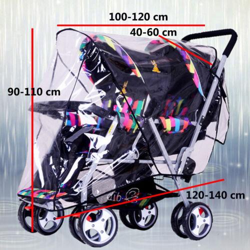Regenverdeck Regenschutz Regenhaube für Geschwisterwagen Kinder Zwillingswagen