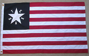 HEAVy COTTON 2 feet by 3 feet TEXAS STATE FLAG EMBROIDERED STAR