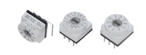 binär MARKIERUNGEN verpackt Dreh Schalter 10 or 16 Position horizontal oder