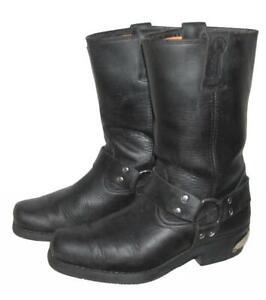 034-KOCHMANN-034-Herren-Motorrad-Stiefel-Biker-Western-Boots-in-schwarz-Gr-42