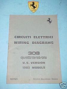 ferrari 308 wiring diagrams original 273 83 oem ebay rh ebay co uk ferrari 308 qv wiring diagram ferrari 308 qv wiring diagram
