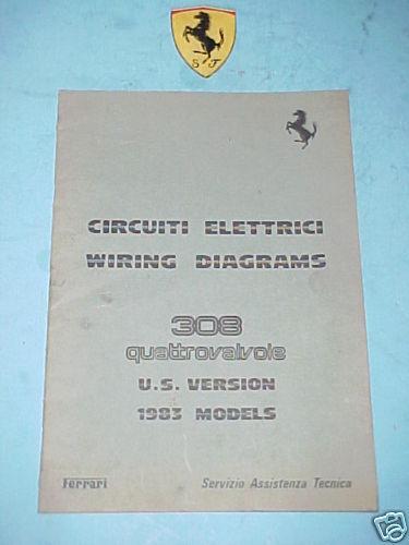 Ferrari 308 Wiring Diagrams Original Print 273  83 Genuine