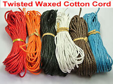 6 Strands Waxed Twisted Waxed Cotton Cord String Thread Line 2mm X10Meters