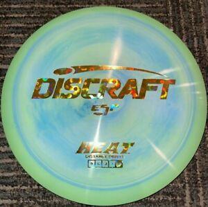 NEW DISCRAFT SWIRLY ESP HEAT DISC GOLF DRIVER GREEN/ GOLD FLOWERS 173-4G LSDISCS