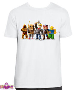 Roblox  Adults/KIDS WHITE T-Shirt  Gaming Gamer