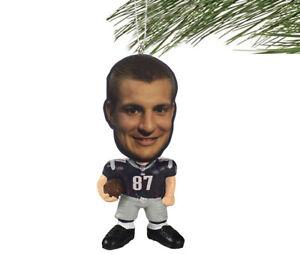 New-England-Patriots-NFL-Flathlete-Rob-Gronkowski-87-Resin-Christmas-Ornament