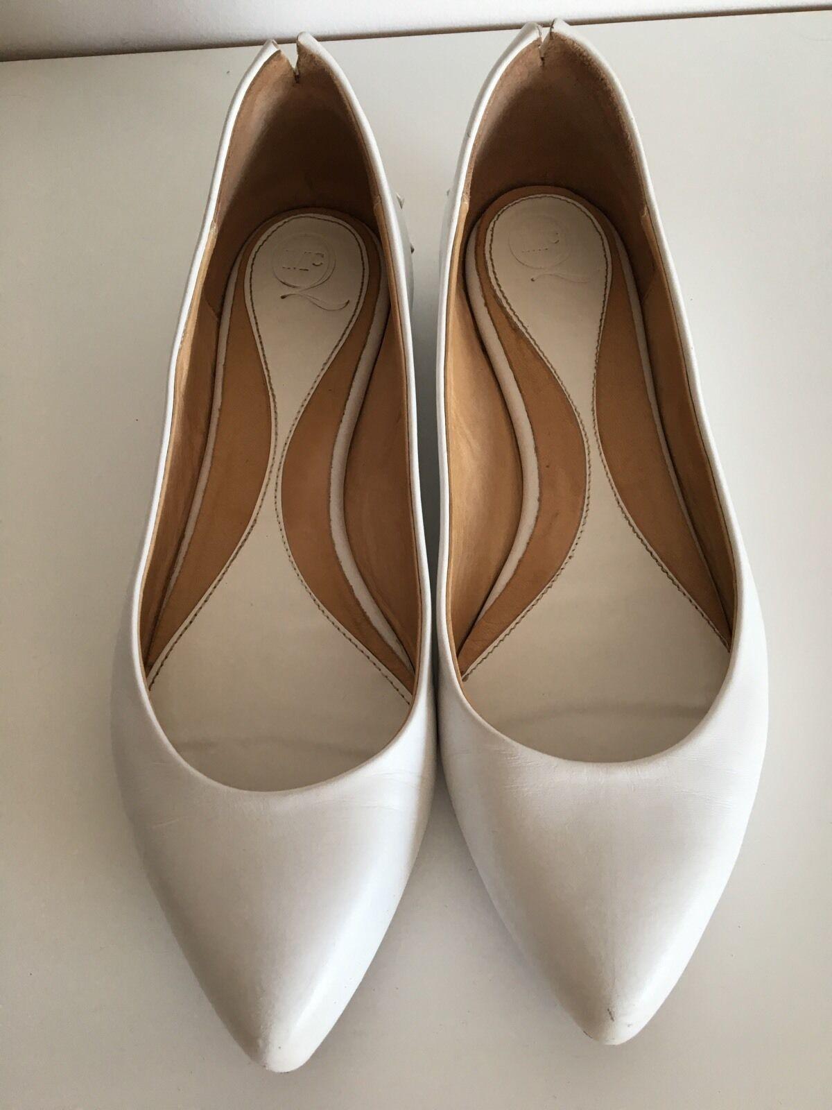 Alexander McQueen blanc chaussures Taille 37 UK4